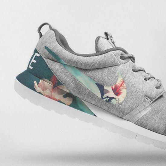 Picture of Nike Floral Roshe Customized Running Shoes